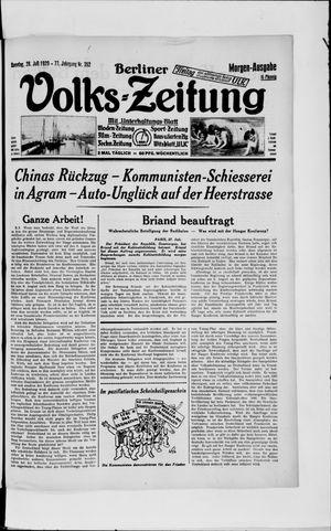 Berliner Volkszeitung vom 28.07.1929