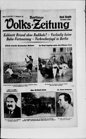 Berliner Volkszeitung vom 29.07.1929
