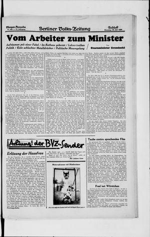 Berliner Volkszeitung vom 30.07.1929