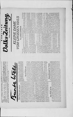 Berliner Volkszeitung vom 02.08.1929