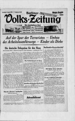 Berliner Volkszeitung vom 03.08.1929