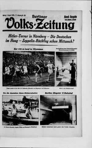 Berliner Volkszeitung vom 05.08.1929