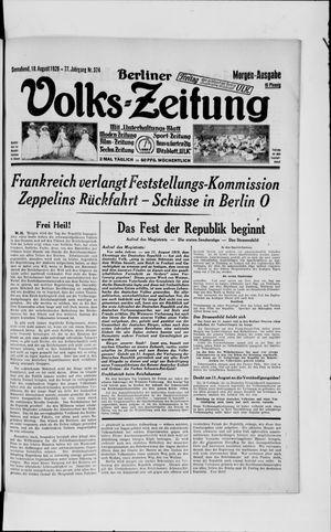 Berliner Volkszeitung vom 10.08.1929