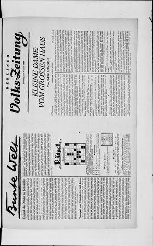 Berliner Volkszeitung vom 11.08.1929