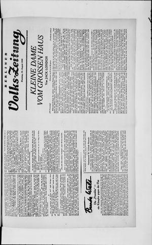 Berliner Volkszeitung vom 13.08.1929