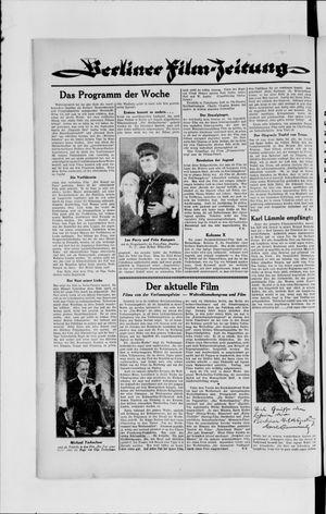 Berliner Volkszeitung vom 14.08.1929