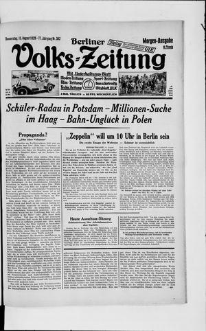 Berliner Volkszeitung vom 15.08.1929