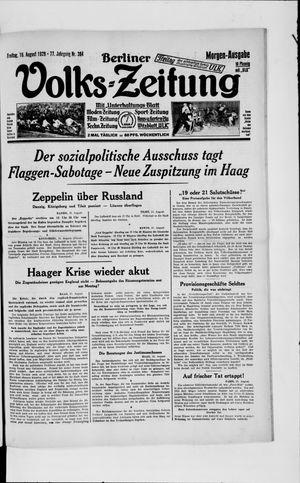 Berliner Volkszeitung vom 16.08.1929