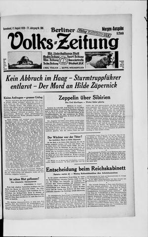 Berliner Volkszeitung vom 17.08.1929