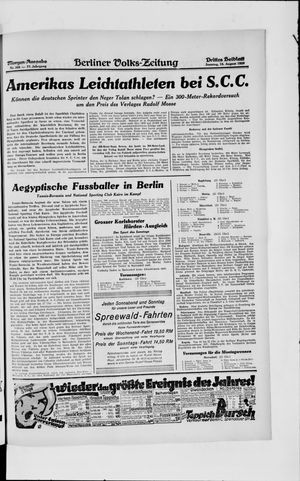 Berliner Volkszeitung vom 18.08.1929