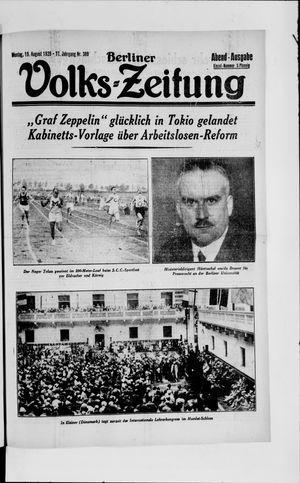 Berliner Volkszeitung vom 19.08.1929