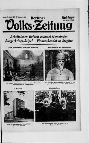 Berliner Volkszeitung vom 20.08.1929