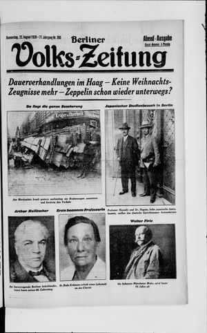 Berliner Volkszeitung vom 22.08.1929