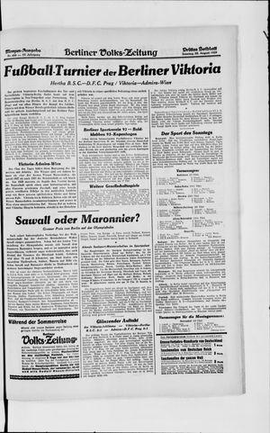 Berliner Volkszeitung vom 25.08.1929