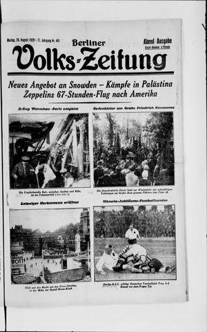Berliner Volkszeitung vom 26.08.1929