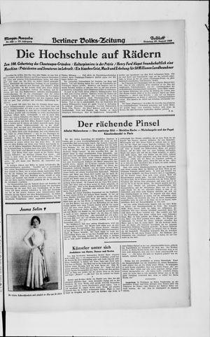 Berliner Volkszeitung vom 27.08.1929
