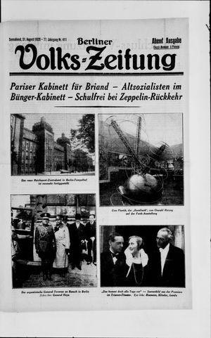 Berliner Volkszeitung vom 31.08.1929