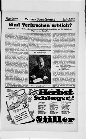 Berliner Volkszeitung vom 01.09.1929