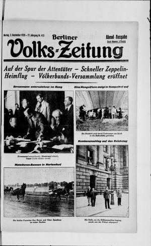 Berliner Volkszeitung vom 02.09.1929