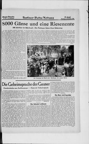 Berliner Volkszeitung vom 03.09.1929