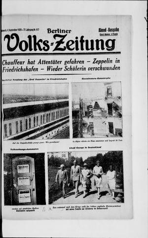Berliner Volkszeitung vom 04.09.1929