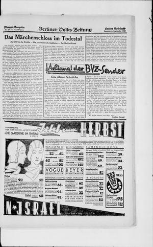 Berliner Volkszeitung vom 08.09.1929