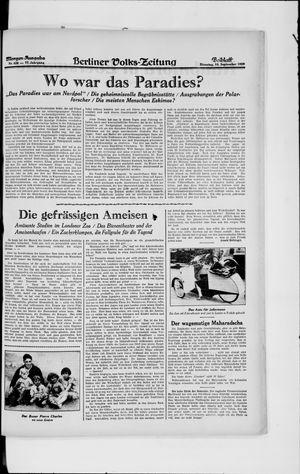 Berliner Volkszeitung vom 10.09.1929