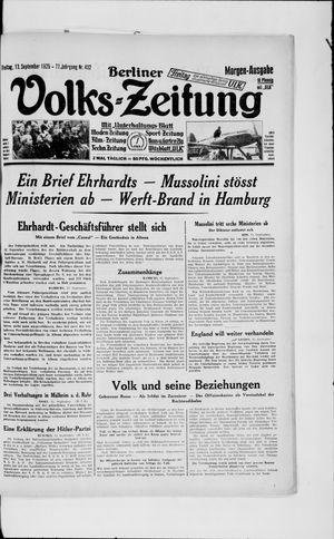 Berliner Volkszeitung vom 13.09.1929