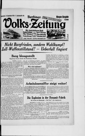 Berliner Volkszeitung vom 14.09.1929