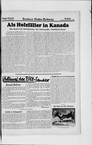 Berliner Volkszeitung vom 18.09.1929
