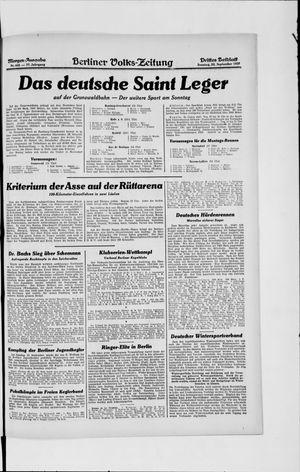 Berliner Volkszeitung vom 22.09.1929