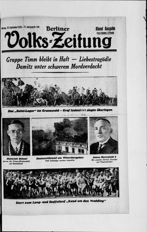 Berliner Volkszeitung vom 23.09.1929