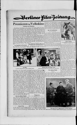 Berliner Volkszeitung vom 25.09.1929
