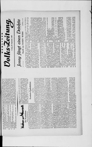 Berliner Volkszeitung vom 27.09.1929