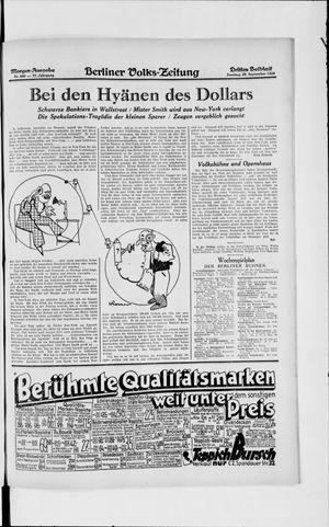 Berliner Volkszeitung vom 29.09.1929