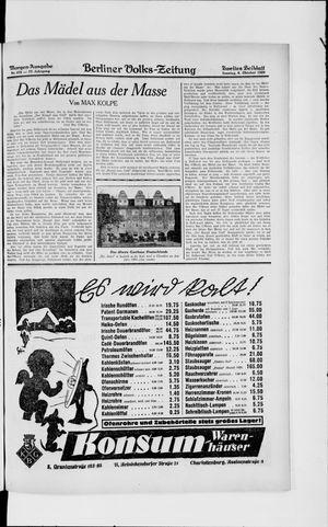 Berliner Volkszeitung vom 06.10.1929