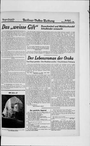 Berliner Volkszeitung vom 09.10.1929