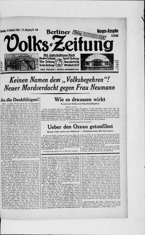 Berliner Volkszeitung vom 13.10.1929