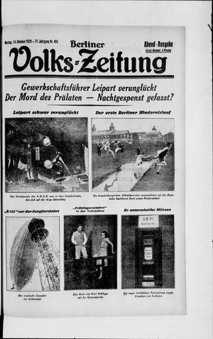 Berliner Volkszeitung vom 14.10.1929