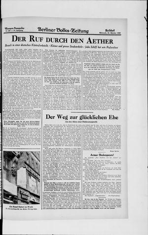 Berliner Volkszeitung vom 16.10.1929