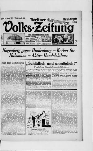 Berliner Volkszeitung vom 20.10.1929