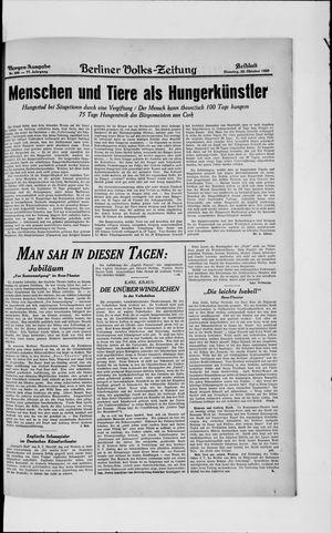 Berliner Volkszeitung vom 22.10.1929