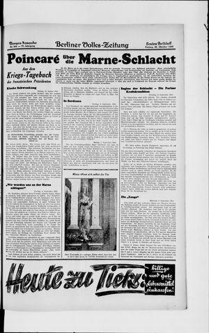 Berliner Volkszeitung vom 25.10.1929