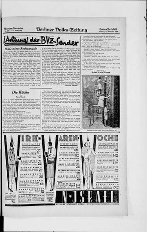 Berliner Volkszeitung vom 27.10.1929