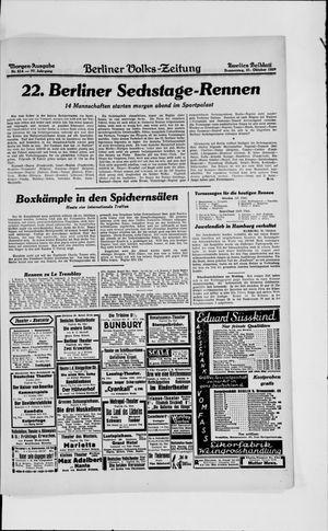 Berliner Volkszeitung vom 31.10.1929