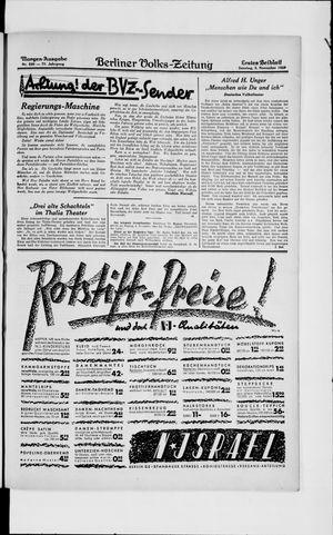 Berliner Volkszeitung vom 03.11.1929