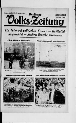 Berliner Volkszeitung vom 04.11.1929