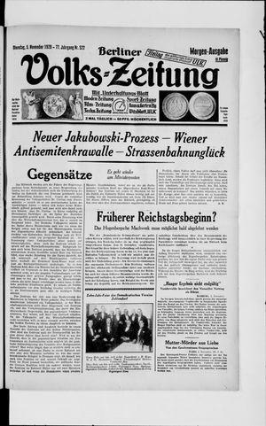 Berliner Volkszeitung vom 05.11.1929