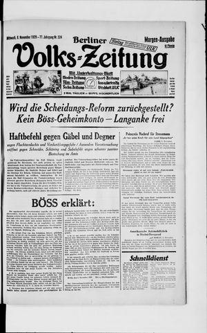 Berliner Volkszeitung vom 06.11.1929