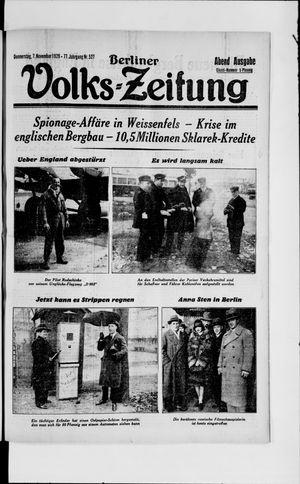Berliner Volkszeitung vom 07.11.1929